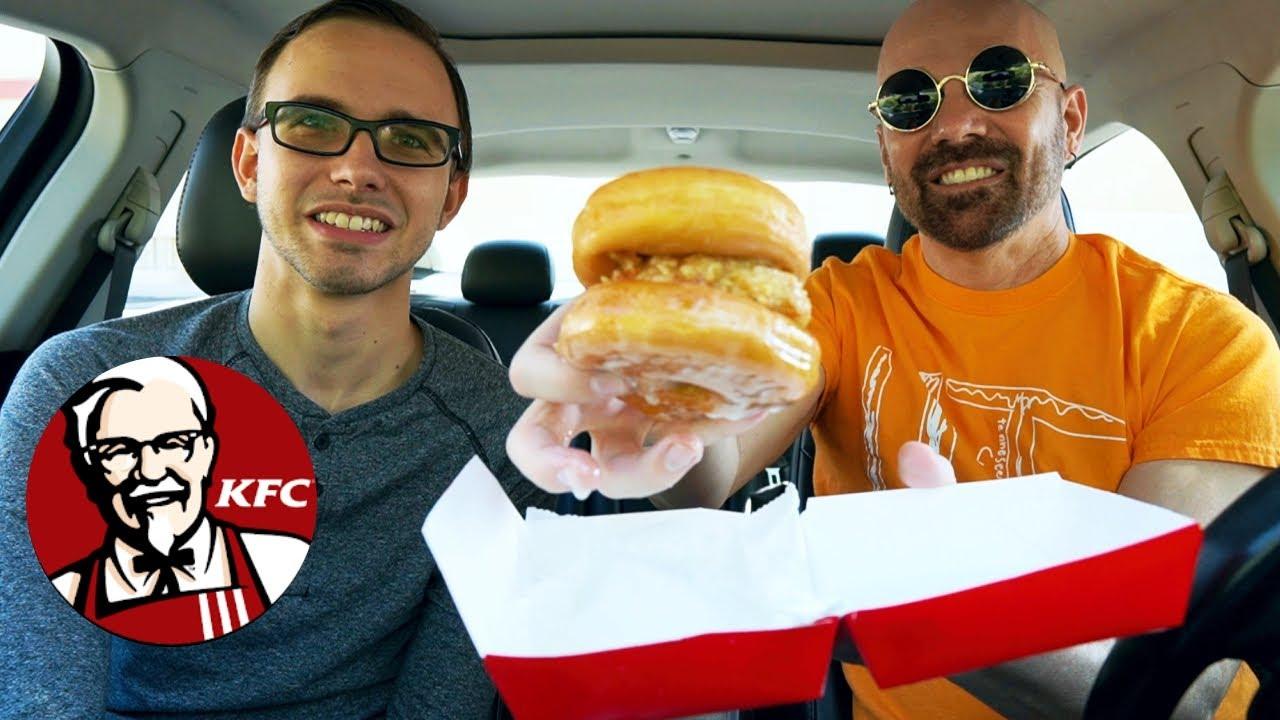 KFC: NEW Chicken & Doughnut Sandwich Review!!