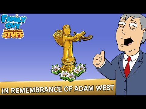 Family Guy: The Quest For Stuff | Adam West Memorial Statue