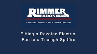 Fitting a Revotec electric fan to a Triumph Spitfire.