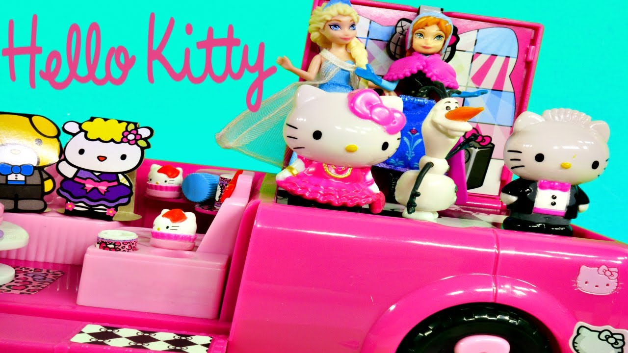 Uncategorized Dancing Hello Kitty hello kitty dance party limo elsa anna olaf frozen toys doll review by disney cars toy club youtube