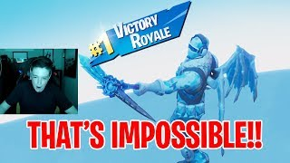 IMPOSSIBLE WIN CAUGHT ON CAMERA!! - Fortnite Battle Royale