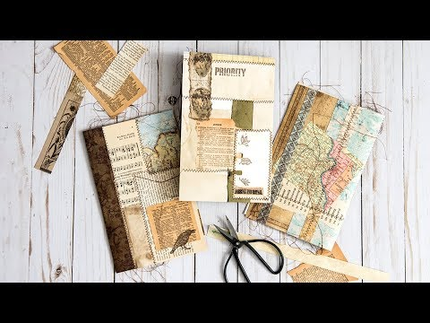 Making Franken-pages - Using up those paper scraps!