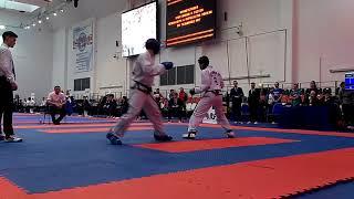 Таеквондо МФТ Чемпионат Москвы 2017 спарринг1 Taekwondo ITF sparring