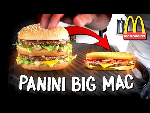 BIG MAC MCDONALD'S vs MACHINE À PANINI (Expérience/Dégustation)