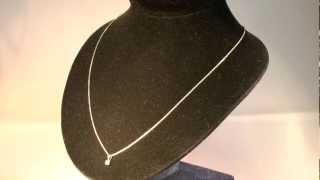 Chaine or blanc massif et diamant 0,06 carat - www.e-bijouterie.com