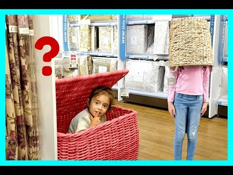 HIDE AND SEEK in Shopping Store -Family Fun Kids Pretend Playtime