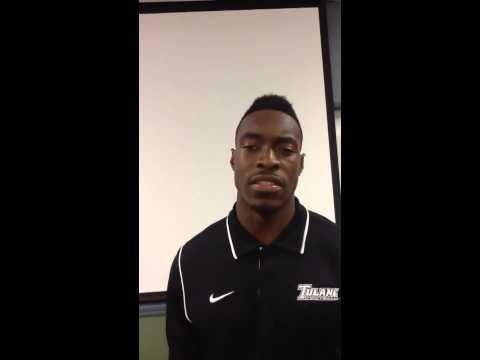 "Tulane CB Taurean Nixon talks about the ""speedy"" move to nickel: video"