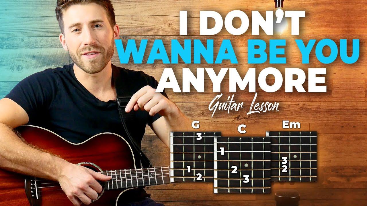 idontwannabeyouanymore Guitar Tutorial Billie Eilish Easy Chords Guitar  Lesson