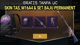 DAPATKAN SKIN M16A4, TAS & SET BAJU KEREN PERMANENT || SKIN GRATIS PUBG MOBILE