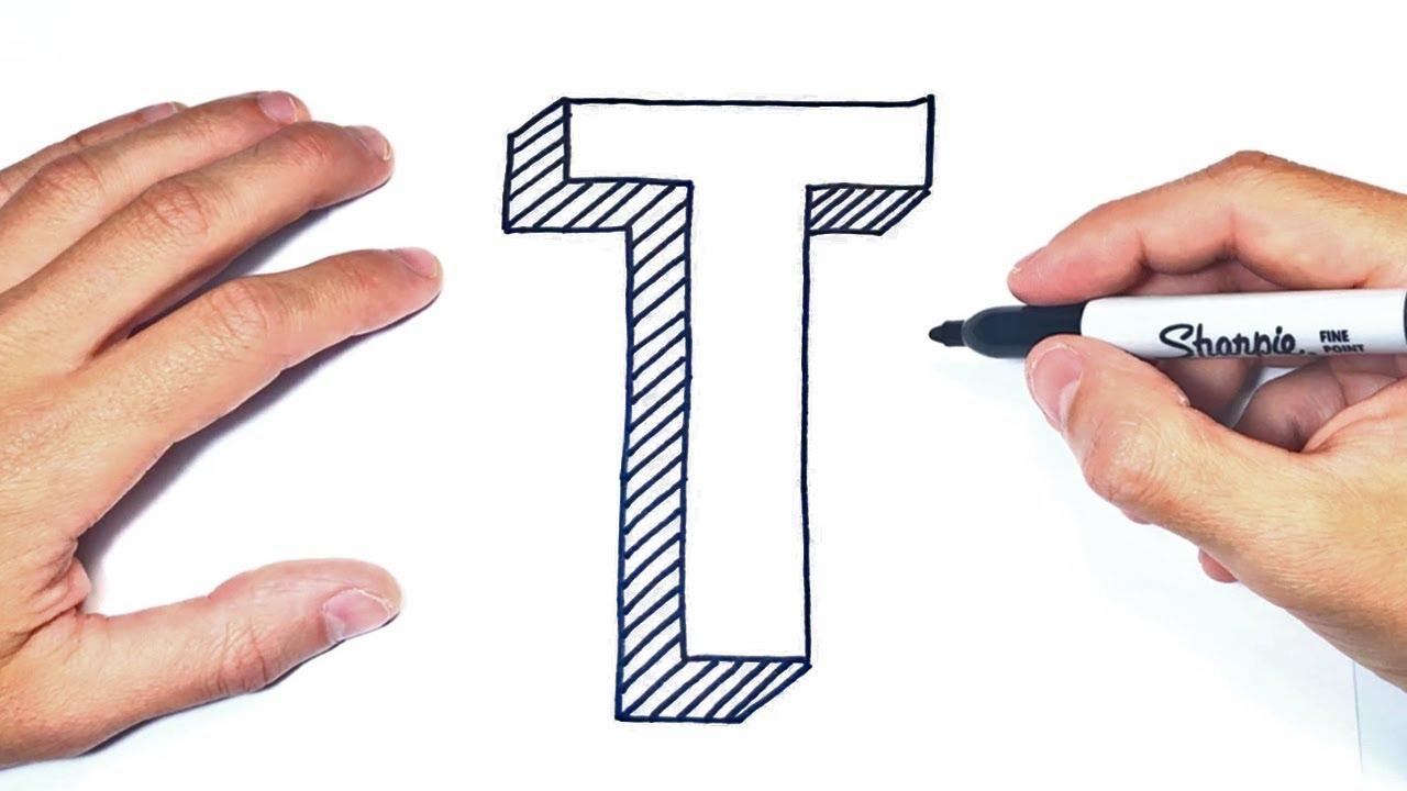 Como Dibujar La Letra T Dibujo De La Letra T Del Abecedario
