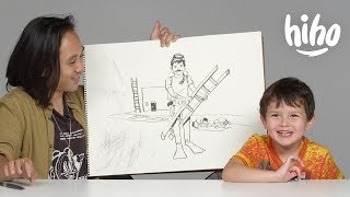 Ernie Describes His Dream Job to Koji the Illustrator | Kids Describe | HiHo Kids