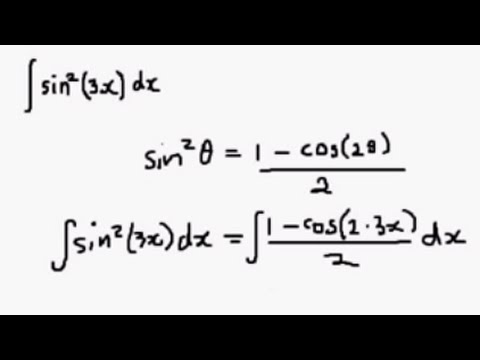 Integral Of Sin 2 X Using The Half Angle Formula Youtube