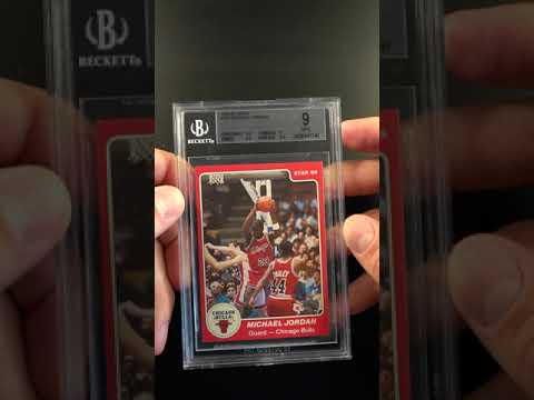 1984 85 Star Basketball Michael Jordan Rookie Rc 101 Bgs 9 Mint Pwcc Ends 63019