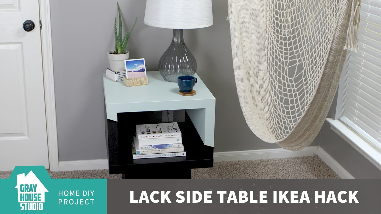 lack side table ikea hack youtube. Black Bedroom Furniture Sets. Home Design Ideas