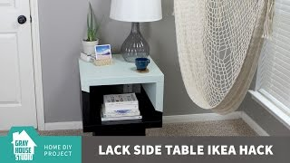 Lack Side Table Ikea Hack