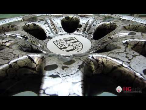 HG Arts | Silver Skulls (HGA - US09) - Water Transfer Printing | Hydrographics