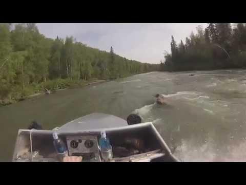 Alaska Mini Boating Kashwitna River Rapids