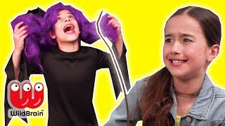 Magic Wand Swap 🎩 Esme & Olivia Have Wrong Wands - Princesses In Real Life | WildBrain Kiddyzuzaa