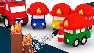 Развивающие мультики: 4 МАШИНКИ стали Пожарными 🚒! #4машинки мультфильмы для детей