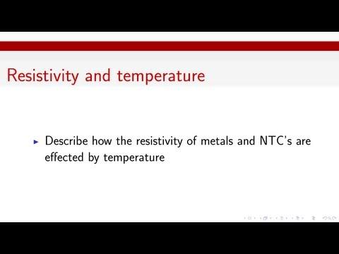 Resistivity and Temperature