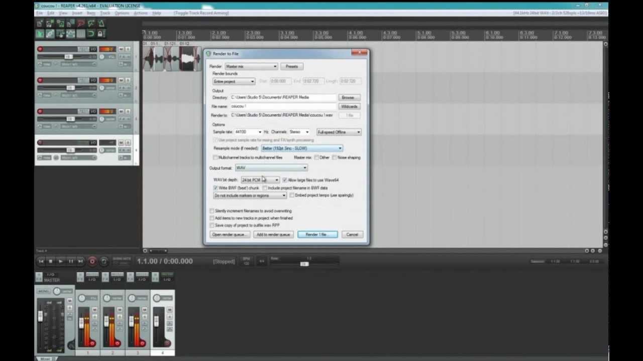 Download Reaper pour les débutants partie 1 : S'enregistrer !