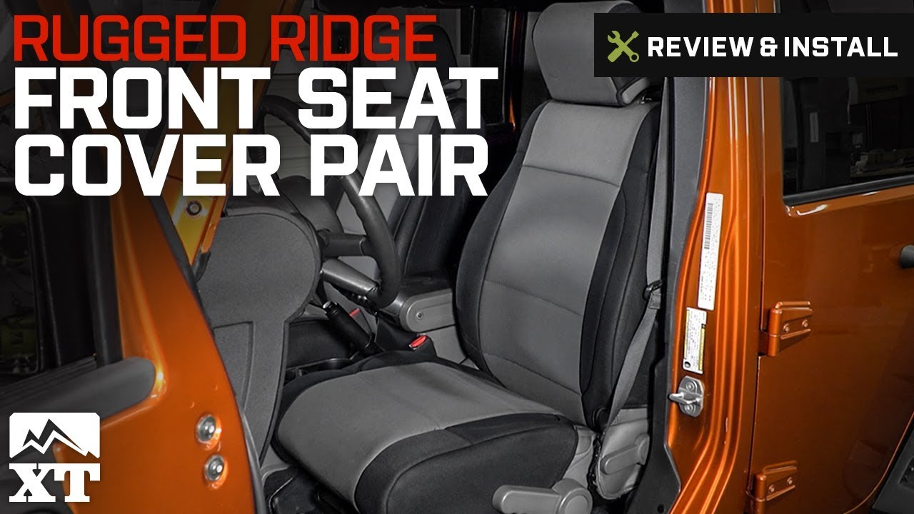 Jeep Wrangler 2007 2010 JK Rugged Ridge Front Seat Cover Pair Review Install