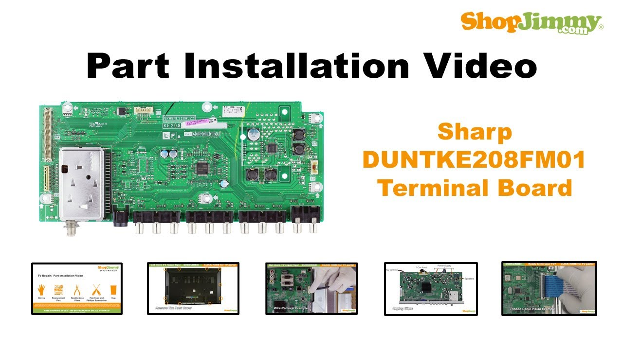free sharp duntke208fm01 terminal boards replacement guide for sharp rh youtube com