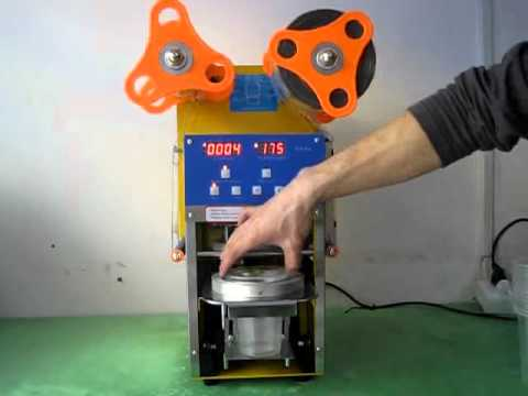 WCS-F08 bubble tea/boba cup sealing machine.avi