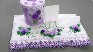 TOALLAS DECORADAS A MANO - como decorar toallas de baño  - how to decorate towels - diy