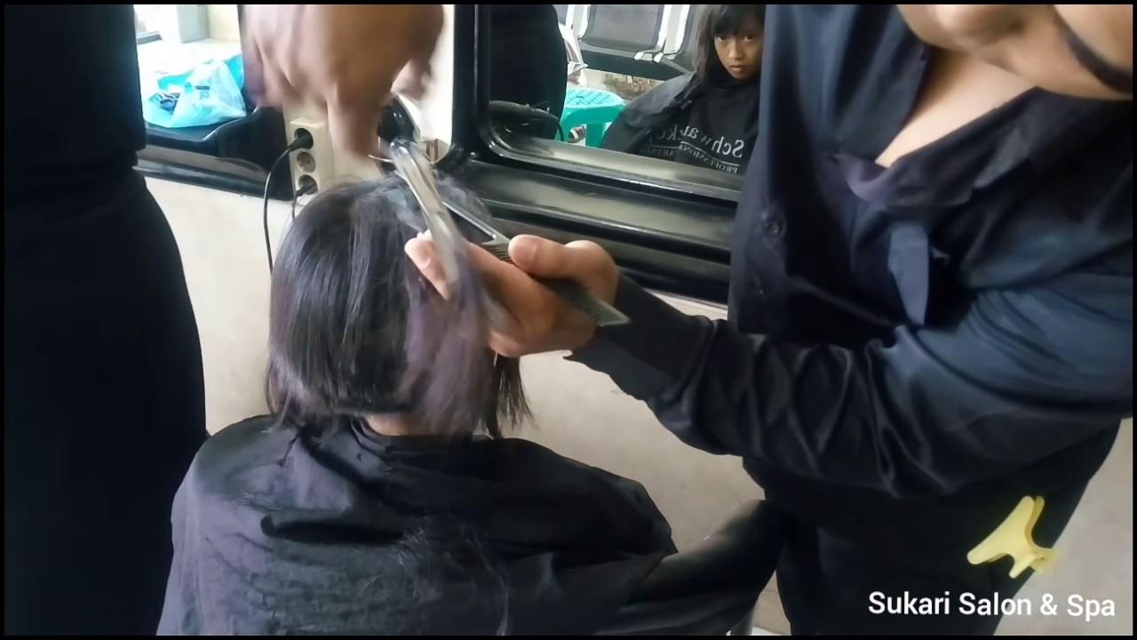 Potong Rambut Bob Nungging Pony Depan - YouTube a6fc341f15