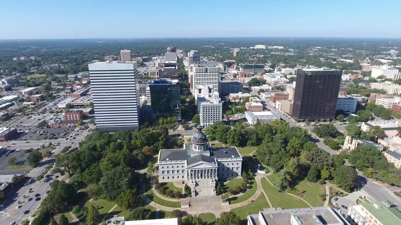 Flying Around Downtown Columbia Sc