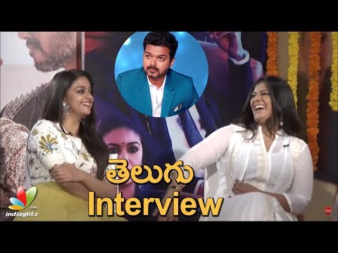 Vijay is very funny and down to earth: Keerthy Suresh & Varalaxmi | Sarkar Diwali Interview