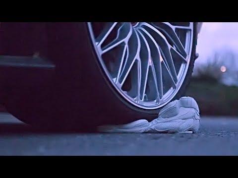 Lamborghini Aventador running over Yeezy 500 Salt! - Crep Protect Eraser