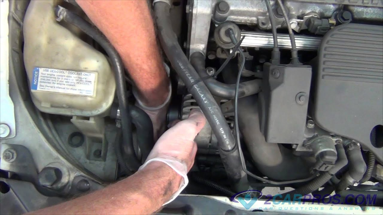 serpentine belt replacement chevrolet cavalier 1995 2005 youtube serpentine belt replacement chevrolet cavalier 1995 2005