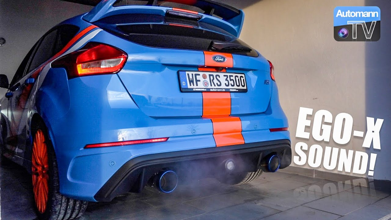2017 Ford Focus Rs Ego X Cold Start Sound 60fps Youtube