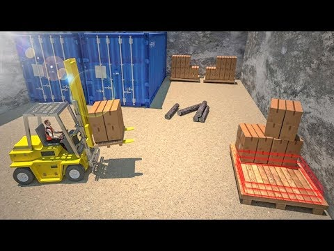 Forklift Games Rear Wheels Forklift Driving (by Zact Studio Games) Android Gameplay [HD]