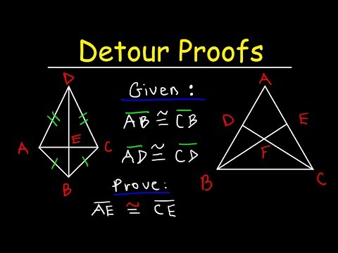 Detour Proofs - Double Triangle Congruence - SSS, SAS, AAS - Geometry Two Column Proofs & CPCTC