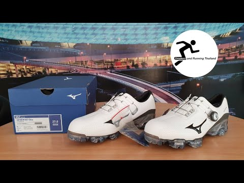 891048ae30dc Mizuno Golf Shoe GENEM 007 BOA EEEE/ พากษ์ไทย - YouTube