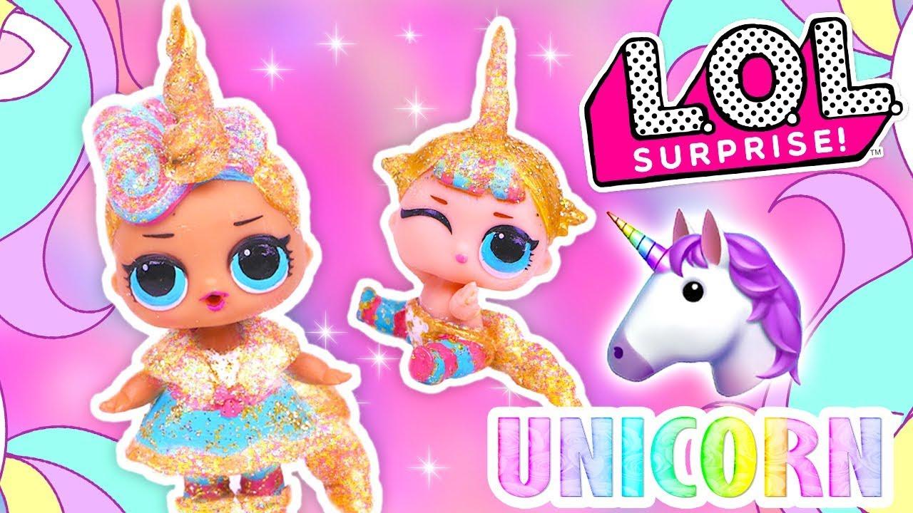 DIY GLITTER UNICORN 🦄 Custom LOL Surprise Dolls and LIL