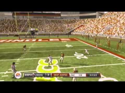 NCAA 12 Demo Gamplay Alabama Vs Flordia State Highlights