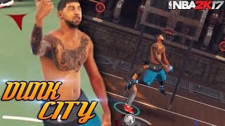 Dunking All Over Rivet City! 55 OVR Brown Shirt For What? NBA 2K17 MyPark Gameplay