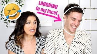 I DID MY MAKEUP HORRIBLY TO SEE HOW MY HUSBAND WOULD REACT!!! | Shenae Grimes Beech