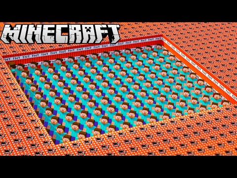 MINECRAFT STEVE VS. 10,000 TNT!