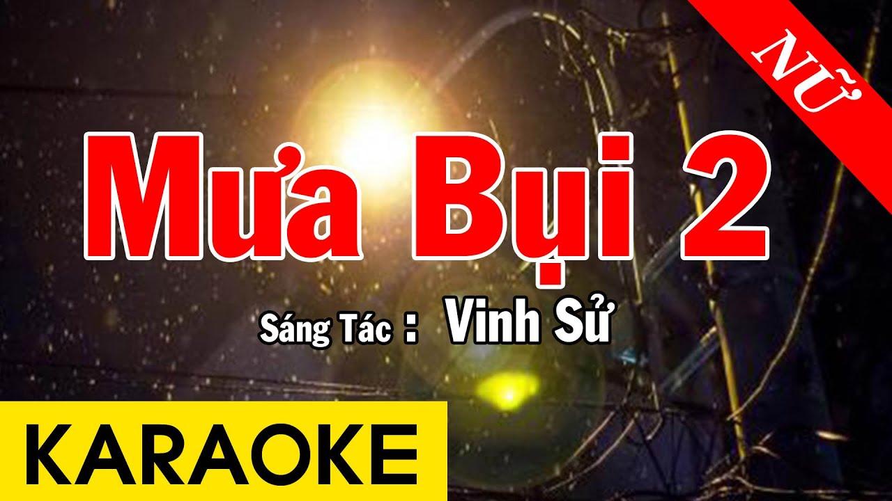 Karaoke Mưa Bụi 2 Tone Nữ Nhạc Sống - Beat Chuẩn