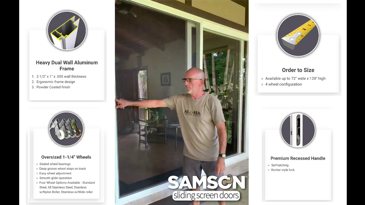 samson replacement sliding patio screen