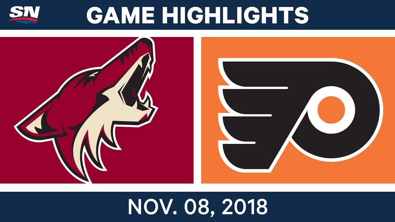 NHL Highlights   Coyotes vs. Flyers – Nov. 8, 2018