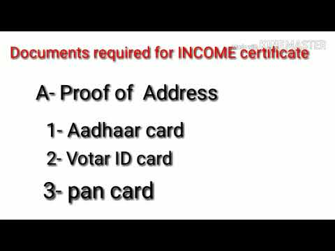 Documents Required For Income Certificate