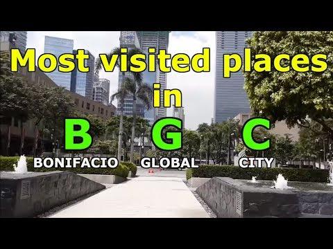 BGC (Bonifacio Global City) 2019 Most visited places. Vlog tour, Taguig City, Philippines