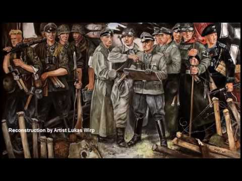 Medall knight cross soldiers of the Waffen SS Division Leibstandarte,  painting