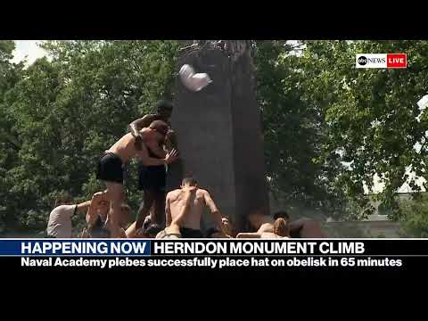 Watch Live: US Navel Academy holds annual Herndon monument climb | ABC News